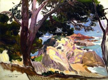 Landscape of the Cove at Santa Cristina Lloret del Mar | Joaquin Sorolla y Bastida | oil painting