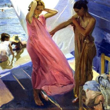 After Bathing Valencia | Joaquin Sorolla y Bastida | oil painting