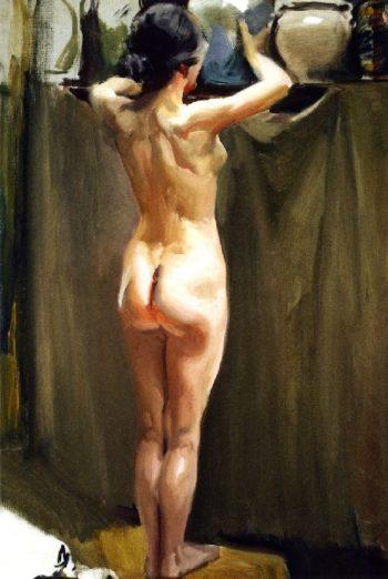 Nude Woman | Joaquin Sorolla y Bastida | oil painting