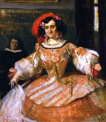 The Actress Maria Guerrero as La Dama Boba   Joaquin Sorolla y Bastida   oil painting