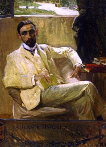 The Poet Juan Ramon Jiminez | Joaquin Sorolla y Bastida | oil painting