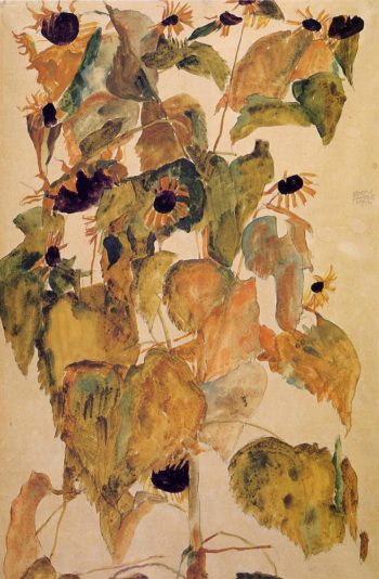 Sunflowers | Egon Schiele | oil painting