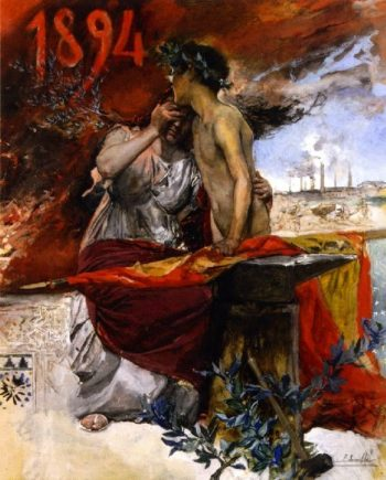 Poster for the Agro Indistrial Exposition of 1894 | Joaquin Sorolla y Bastida | oil painting