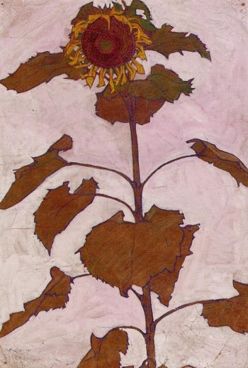 Sunflower | Egon Schiele | oil painting