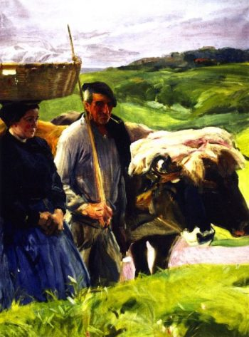 Typical Guipuzcoans | Joaquin Sorolla y Bastida | oil painting
