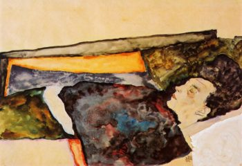 The Artist's Mother Sleeping | Egon Schiele | oil painting