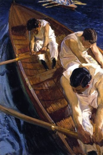 In the Rowboat | Joaquin Sorolla y Bastida | oil painting
