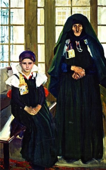 Grandmother and Granddaughter from the Anso Valley | Joaquin Sorolla y Bastida | oil painting