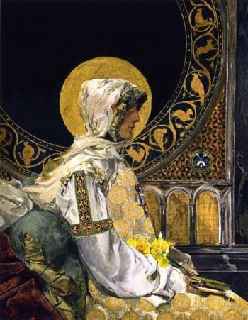 Praying Saint | Joaquin Sorolla y Bastida | oil painting
