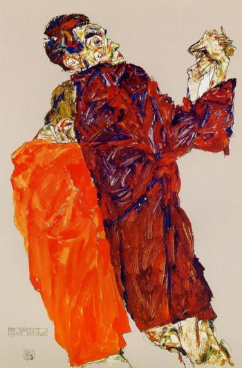 The Truth was Revealed | Egon Schiele | oil painting