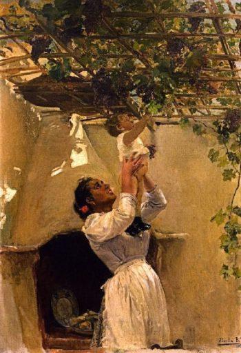 The Grapevine | Joaquin Sorolla y Bastida | oil painting