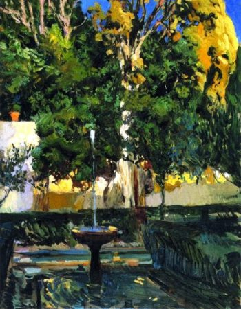 The Sultana's Cypresses | Joaquin Sorolla y Bastida | oil painting