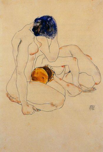 Two Friends | Egon Schiele | oil painting