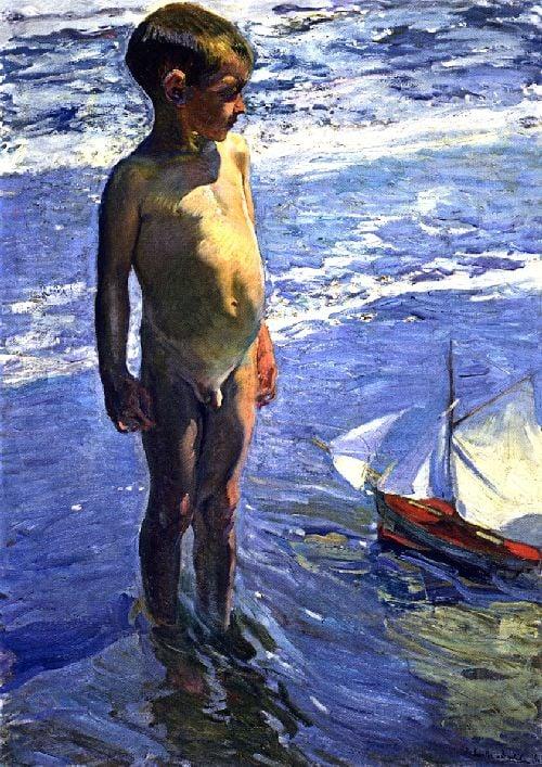 The Little Boatman | Joaquin Sorolla y Bastida | oil painting