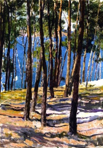 The Pines of Galicia | Joaquin Sorolla y Bastida | oil painting