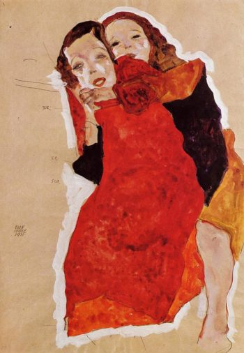 Two Girls | Egon Schiele | oil painting