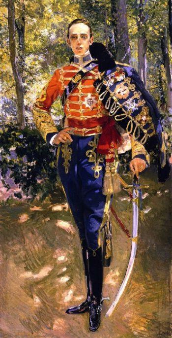 The King Alfonso XIII in a Hussar's Uniform | Joaquin Sorolla y Bastida | oil painting