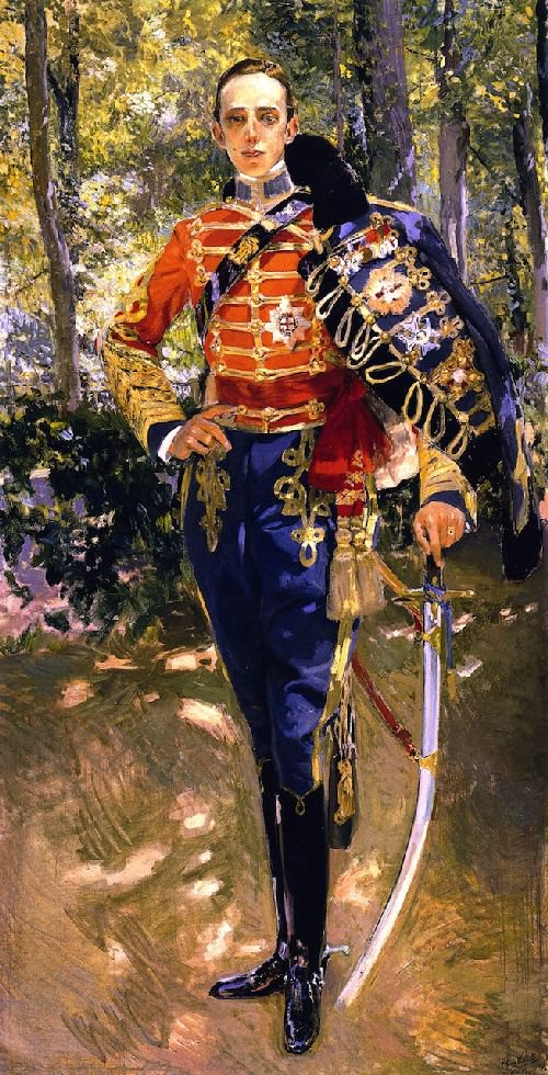 The King Alfonso XIII in a Hussar's Uniform | Joaquin Sorolla y Bastida | oil painting