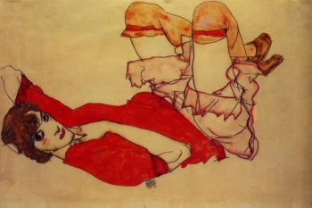 Wally with a Red Blouse | Egon Schiele | oil painting