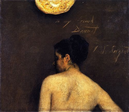 Back View of a Nude Model | John Singer Sargent | oil painting