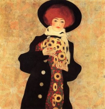 Woman with Black Hat | Egon Schiele | oil painting