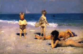Neopolitan Children Bathing | John Singer Sargent | oil painting