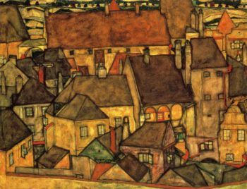 Yellow City | Egon Schiele | oil painting