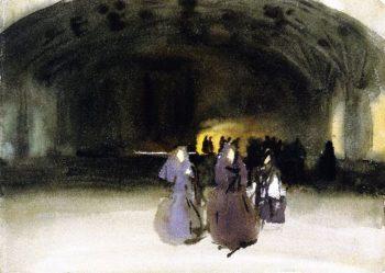 Women Appraching | John Singer Sargent | oil painting
