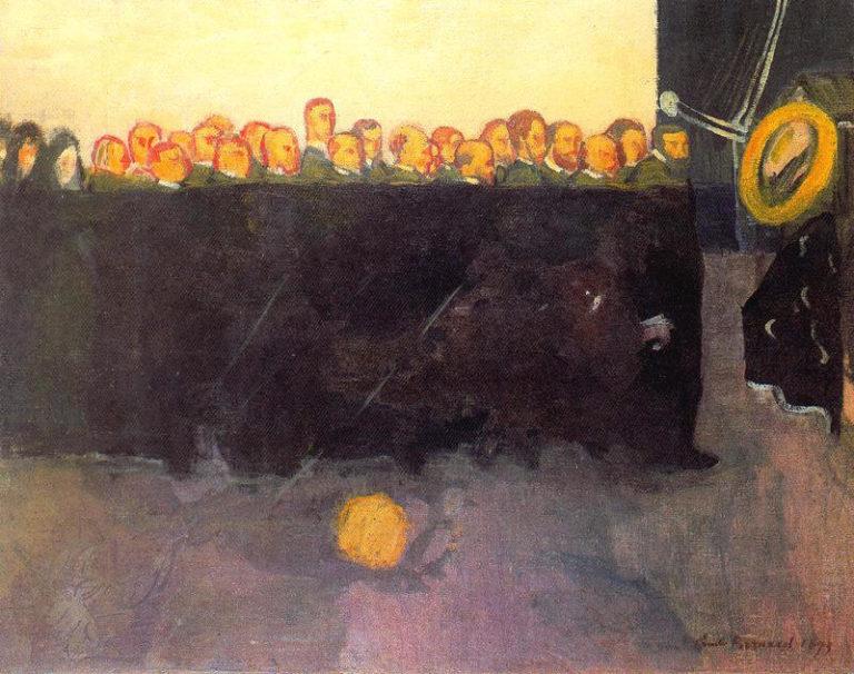 The funeral of Vincent van Gogh | Emile Bernard | oil painting