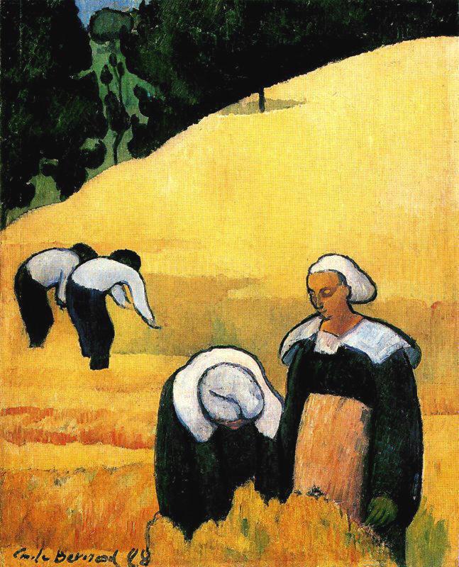 The harvest   Emile Bernard   oil painting