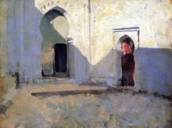 Entrance to a Mosque | John Singer Sargent | oil painting