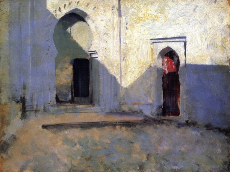 Entrance to a Mosque   John Singer Sargent   oil painting