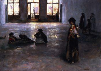 Venetian Women in the Palazzo Rezzonico | John Singer Sargent | oil painting