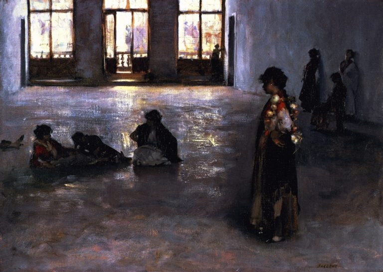 Venetian Women in the Palazzo Rezzonico | John Singer Sargent | oil painting