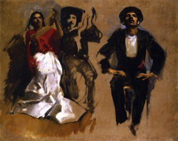 Study for Seated Figures El Jaleo | John Singer Sargent | oil painting
