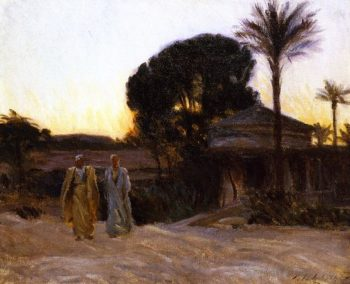 Sunset at Cairo | John Singer Sargent | oil painting