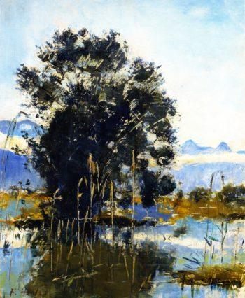 Marshland by Gwatt | Ferdinand Hodler | oil painting