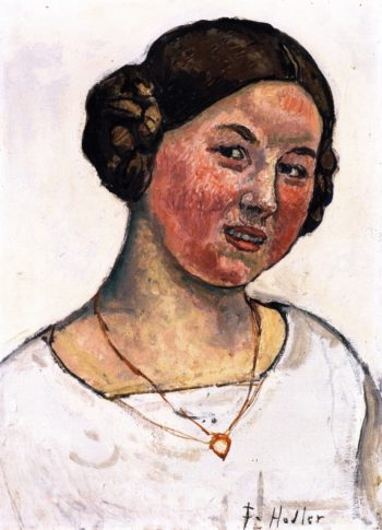 Swiss Girl with Necklace | Ferdinand Hodler | oil painting