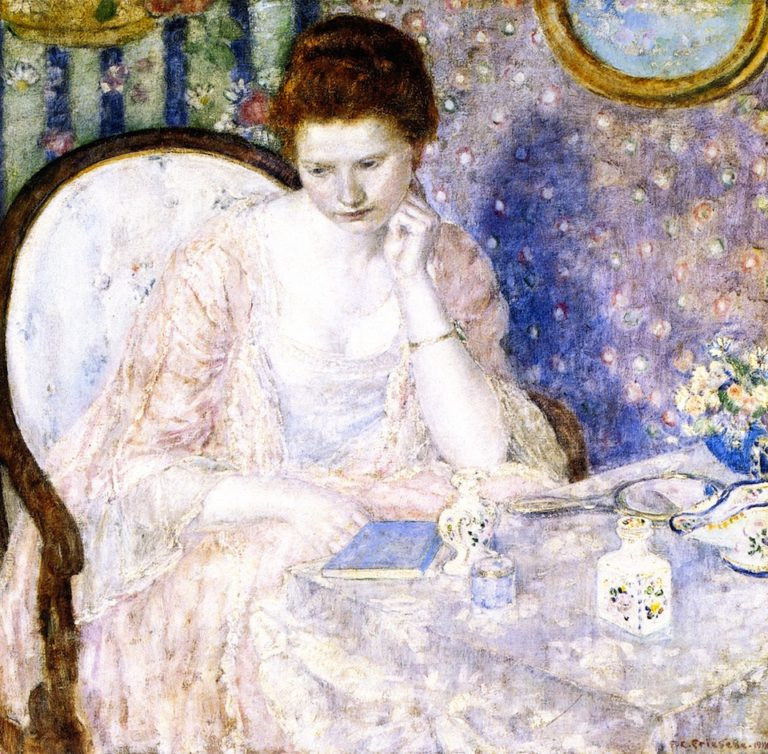 At the Dressing Table | Frederick C Frieseke | oil painting