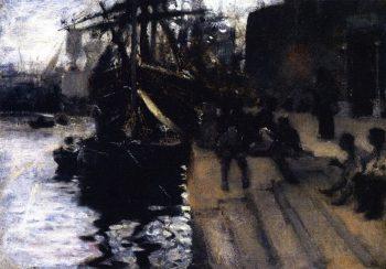 Wharf Scene | John Singer Sargent | oil painting