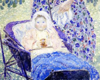 Baby in Pram | Frederick C Frieseke | oil painting