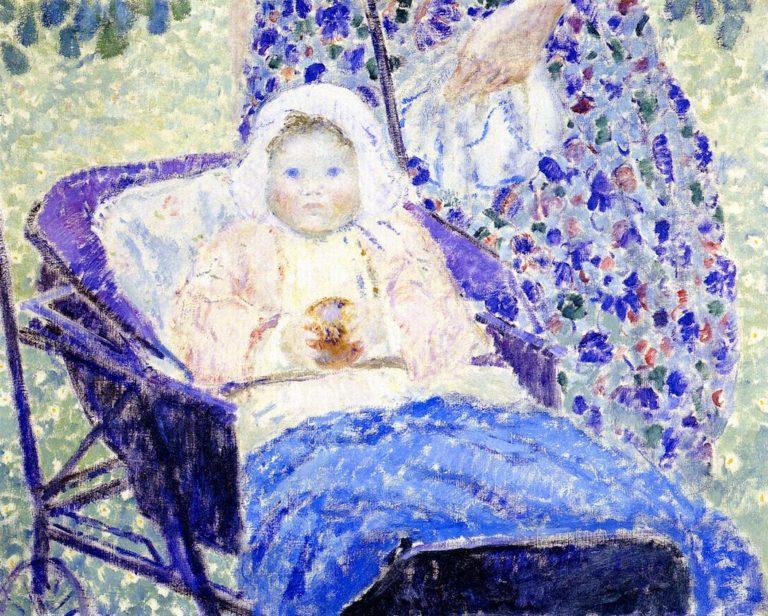 Baby in Pram | Frederick C Frieseke | oil painting
