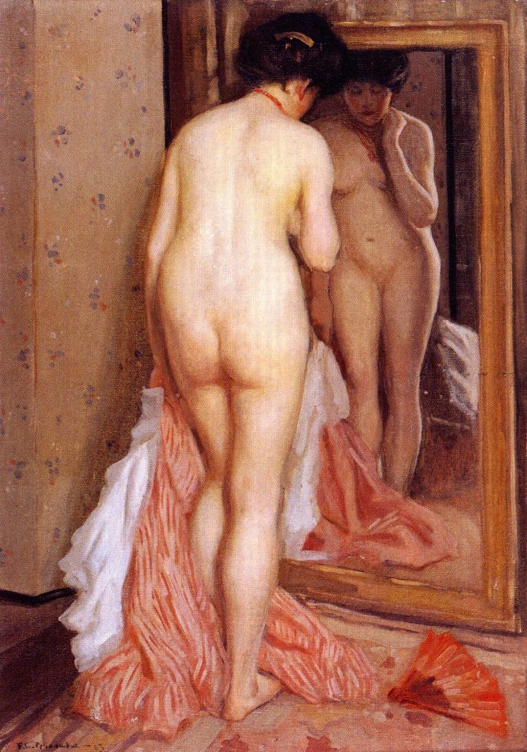 Before the Mirror | Frederick C Frieseke | oil painting