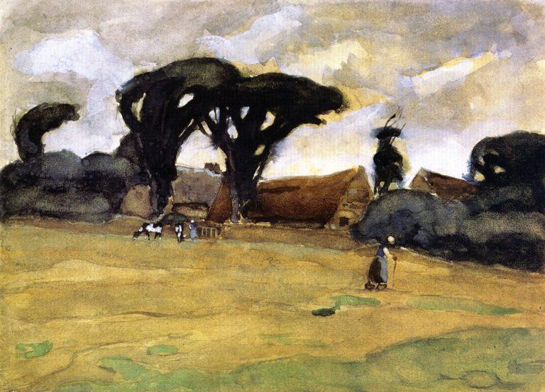 Dutch Landscape | Frederick C Frieseke | oil painting