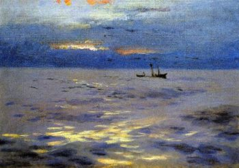 Atlantic Sunset | John Singer Sargent | oil painting