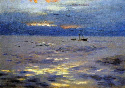 Atlantic Sunset | John Singer Sargent | oil painting