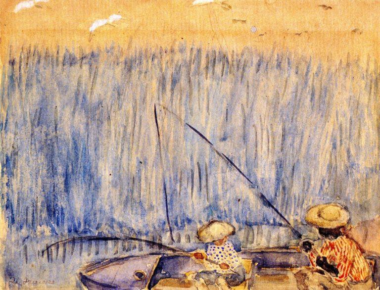 Fishing in the Swamp | Frederick C Frieseke | oil painting
