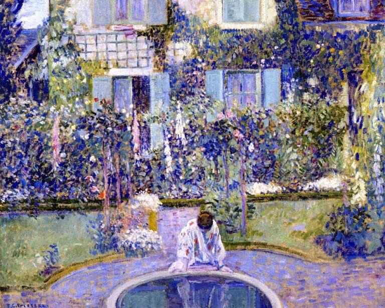 Garden Mirror | Frederick C Frieseke | oil painting