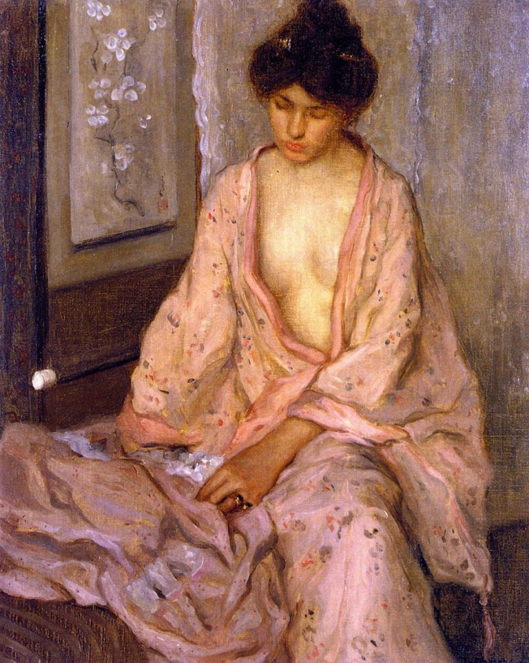 Girl in Pink | Frederick C Frieseke | oil painting