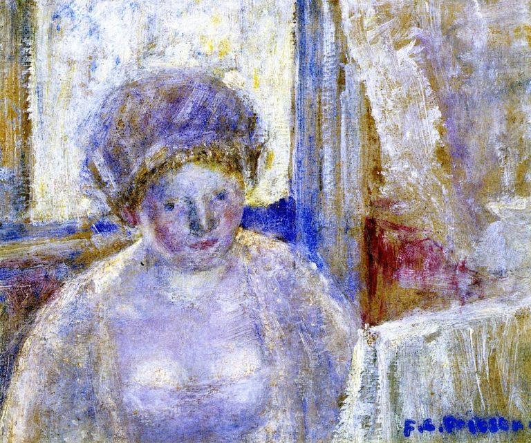 Girl with Earrings | Frederick C Frieseke | oil painting